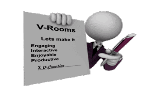 engagement with vrooms <center>Improving ROI With V   Rooms</center>